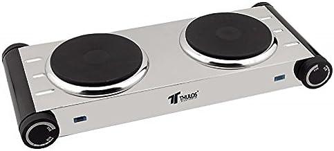Thulos - Cocina Eléctrica 2 Quemadores Acer. Inox
