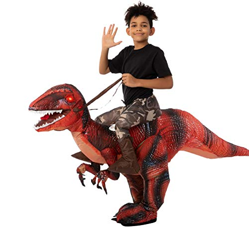 Spooktacular Creations Inflatable Halloween Costume Ride A Raptor Inflatable Costume with LED Light...