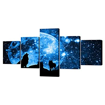 Best wolf silhouette painting Reviews