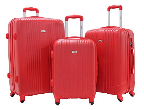 Set di 3 Valigie - Valigia ALISTAIR Airo - ABS Ultra Light - 4 ruote - Rosso