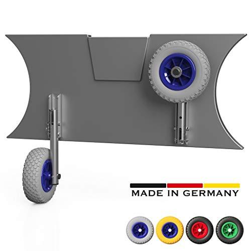 Slipräder SUPROD MD200 mit einzigartiger Klappfunktion, Edelstahl (grau/blau, Edelstahl V4A)
