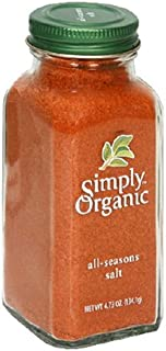 Simply Organic All-Seasons Salt, Certified Organic, 4.73-Ounce Containers (Pack of 6)
