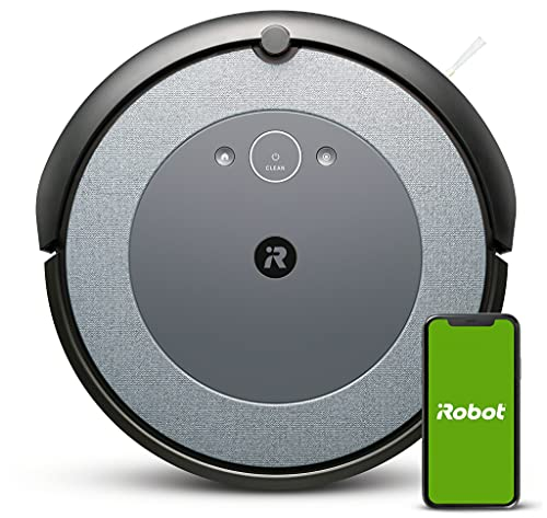 iRobot Roomba i3 (i3152), Neuheit 2021, Intelligenter Staubsauger Roboter, 2 Gummibürsten für diverse Oberflächen, ideal für Tierhaare, individuelle Vorschläge, kompatibel mit Braava Jet m6