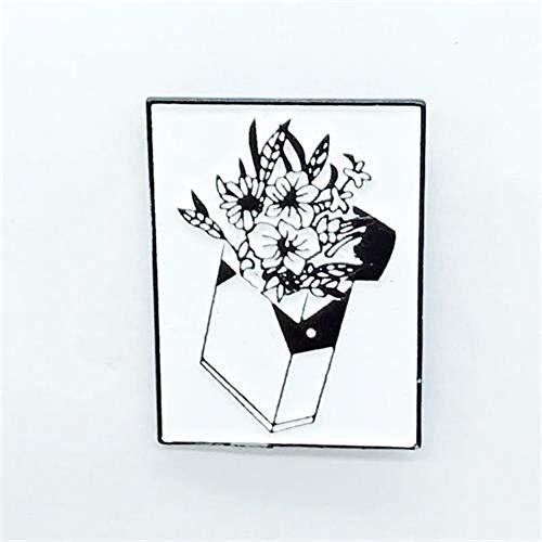 WYLBQM Broche Mode Blume Pflanze Leichter brosche Kombination Trend persönlichkeit Hemd Revers Pullover schmuck Abzeichen brosche friendt