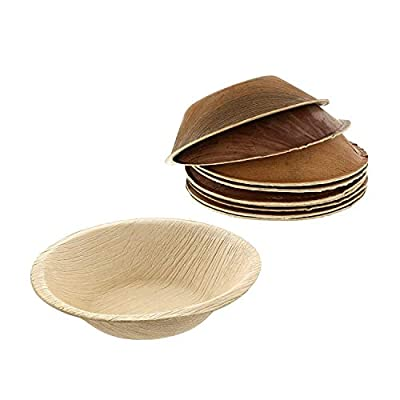 Elegant & Rustic Palm Leaf Plates - Natural Heavy Duty Compostable Dinnerware for Picnic, Camping, Party, Wedding, Birthday, Thanksgiving, Holiday - Biodegradable Disposable Plates