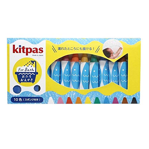 Bath Tub Coloring Crayons with Sponge - 10 Colors