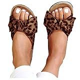 Aniywn Women's Knot Bow Slip-On Flat Open Toe Slide Sandal Comfy Platform Summer Beach Travel Slipper Flip Flops
