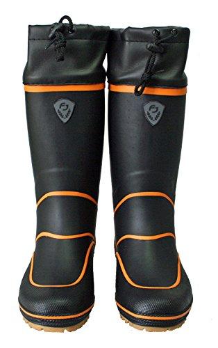SP-1095 ラジアルブーツ ブラック ファインジャパン フィッシングブーツ 釣り用長靴 (L(26cm))