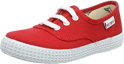 Victoria Inglesa Lona - Zapatillas, color Rojo, talla 23