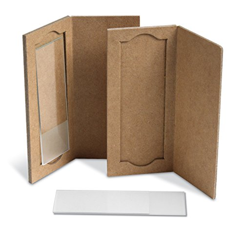 Heathrow Scientific HS9903 1-Place Cardboard Slide Holders, Cardboard (Pack of 25), Gallons, Degree C, Cardboard, Natural (Pack of 25)