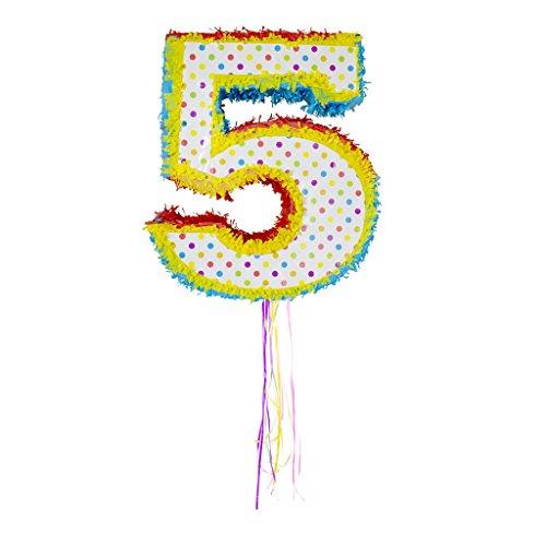 Folat 60945 Piñata * ZAHL 5 * für den 5 Kindergeburtstag