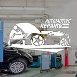 Hjnsxs Reparación de automóviles Servicio de automóviles calcomanía de Garaje Vinilo Interior Etique...