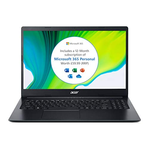 Acer Aspire3 A315-34-Intel Dual Core, 4GB Ram, 128GB SSD, 15.6' Full HD screen, Windows 10 S Laptop Black