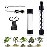 Glass Blunt, Mini Glass Blunt, Tubo de vidrio para hierbas secas con herramientas de limpieza, 3 en 1 tubo de vidrio Twisty Blunt Dry Hierba, Tamaño de bolsillo y fácil de limpiar
