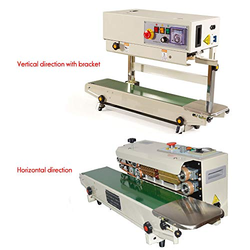 Why Choose TECHTONGDA Vertical Auto Continuous Sealing Machine 110V FR770 Food Sealer Film Plastic B...