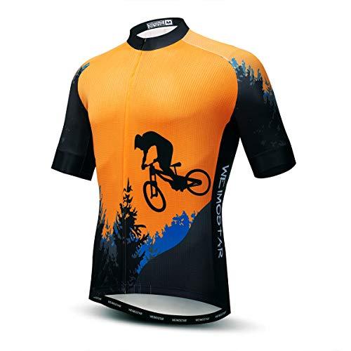 Fahrradtrikot mit Löwen-Druck, für Herren, Frühjahr, Anti-Schweiß, Fahrrad-Shirt, atmungsaktiv, für Rennrad-Team, Fahrradbekleidung, schnelltrocknend Gr. XL/Brust 107/115 cm, 17