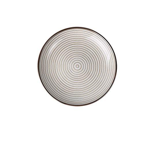 JSJJARD Plato de Cena Estilo Tradicional japonés de cerámica Placas de Cena del vajilla de Porcelana Platos Placa platillo Plato de arroz del Sushi Noddle Vajillas (Color : C, Plate Size : 6 Inch)
