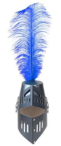 Fantashion K 36 - fietshelm met veer, zwart/blauw