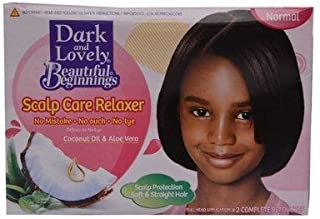 Dark And Lovely Beautiful Beginnings Scalp Care Relaxer with coconut oil and aloe vera,Normal