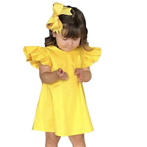 FRAUIT zomerjurk meisjes kinderen zuigeling baby vliegen mouwen feestjurk jurk jurken korte mouwen prinses jurken zomer jurken voor kleine kinderen