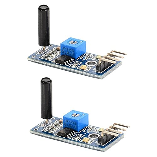 Optimus Electric 2pcs Vibration Sensor Module SW-18010P 3.3V to 5V with Digital Switch Output and LM393 Comparator for Theft Alarms Electronic Building Block Smart Car from