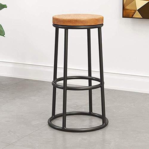 Minimalistische moderne eetkamerstoel | Nordic massief houten barkruk | Retro oud smeedijzeren aanpasbare ijzeren koffiestoel | bar hoge stoel home kruk 45/65/75 cm