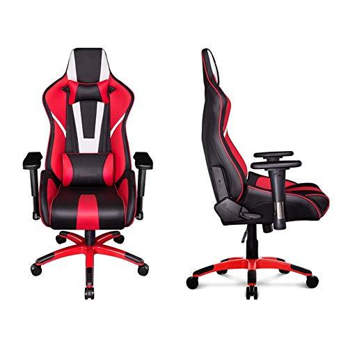 Ajustable silla for juegos Silla de oficina con respaldo alto, las piernas ergonómico silla reclinable cintura principal de soporte giratorio reclinable atletismo Apoyabrazos aleación de aluminio Xpin
