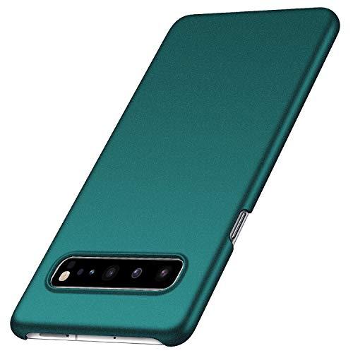 Anccer Kompatibel mit Samsung Galaxy S10 5G Hülle, [Serie Matte] Elastische Schockabsorption & Ultra Thin Design für S10 5G (Kies Grün)
