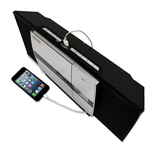 JENSEN JBS-225 Wall Mountable Bluetooth Music System with CD Player