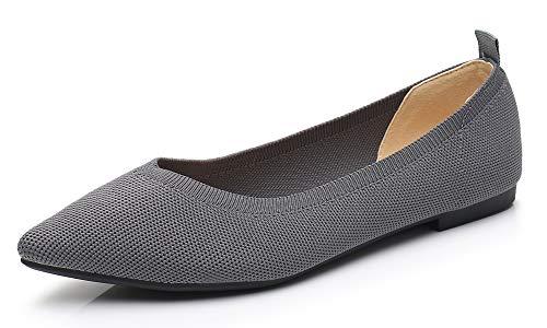 VenusCelia Women's Agile Knit Flat Shoe (10 M US,Gray)