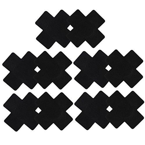 5 Paare Damen Brust Aufkleber Einweg Nippel Cover Schwarz