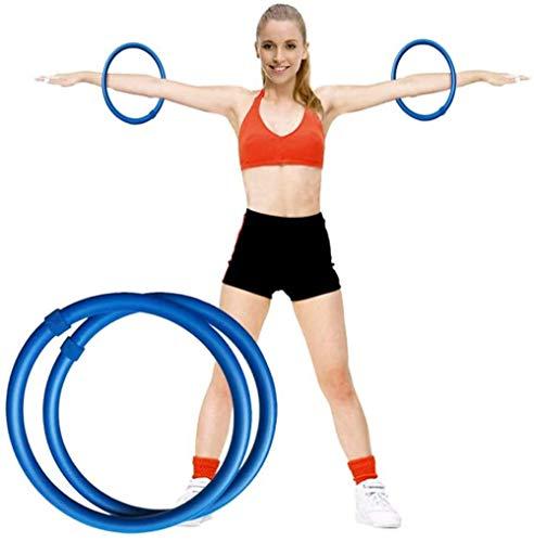 LEAO 2 stücke Armreifen, Mini Hula-Hoop-Set, tragbare Tasche + Anweisungen, für Fettverbrennung Übungsgleichgewicht Beseitigen Sie Cellulite-Massager-dünner Arm
