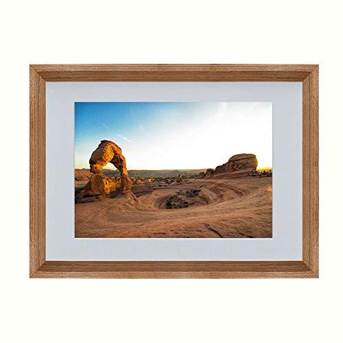 XQSB Fotolijst in moderne stijl, poster, gecertificeerd voor de muur, van massief hout Dimensioni della foto 20,5x30,5 cm Teak