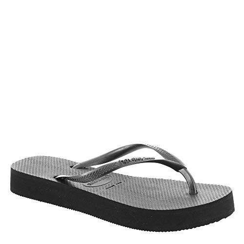 Havaianas Women's Slip-On Flip-Flop, Black, 7-8
