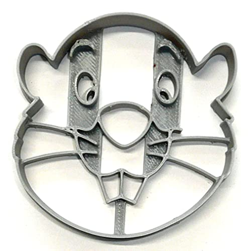 GOPHER FACE DETAILED WINNIE THE POOH CARTOON CHARACTER COOKIE CUTTER 3D PRINTED MADE IN USA PR4200