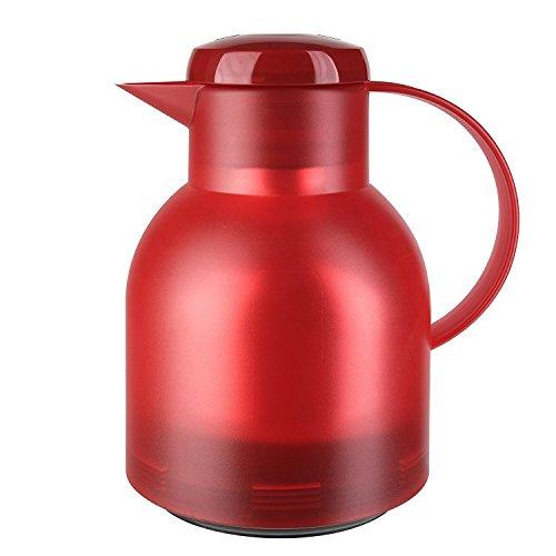 emsa Isolierkanne SAMBA, 1, 0 Liter, transluzentrot 504232