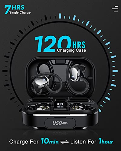 [2021 Versión Mejorada] Auriculares Bluetooth, Coioc Auriculares Inalambricos Deportivos IPX7 Impermeable, HD Estéreo Cascos Inalambricos con Estuche de Carga LED y 120Hrs de Reproducción
