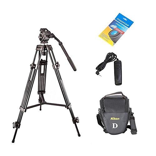 Weifeng wf7171,3m Profesional de aleación de aluminio Trípode de cámara + Paper + Bolsa de la cámara de limpieza de lente + Cable de liberación de obturador