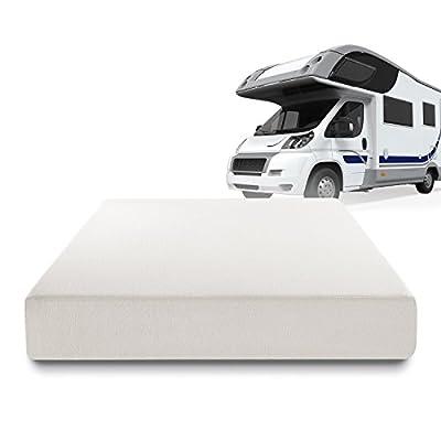 Zinus Deluxe Memory Foam 10 Inch RV / Camper / Trailer / Truck Mattress, Short Queen