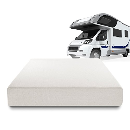 Zinus Deluxe Memory Foam 10 Inch RV / Camper / Trailer / Truck Mattress, Short Queen
