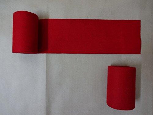 warreplica Envolturas de piernas para reconstructores Vikingos de Color Rojo de la Edad Media