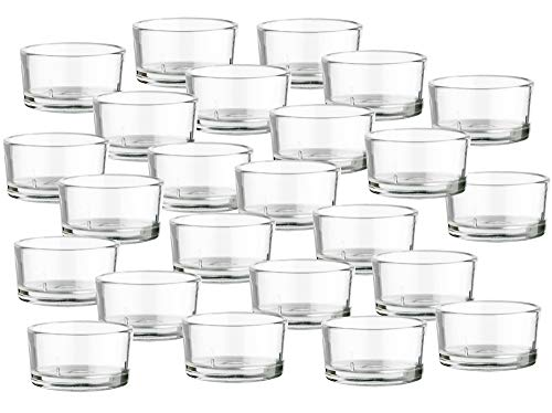 BigDean 24er Set Teelichtgläser - Premium Qualität Made in Germany - Teelichthalter, ideal für Teelichter, Kerzen & als Behälter