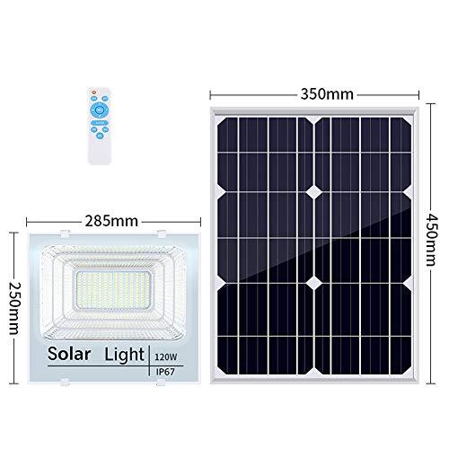 Led-buitenspot op zonne-energie, schemering tot schemering, super helder veiligheidslicht op afstand IP67 waterdicht 6000 K daglicht-wit voor straat, binnenplaats, garage, magazijn