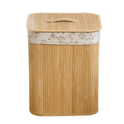 Cesto de bambú para ropa con bolsa extraible