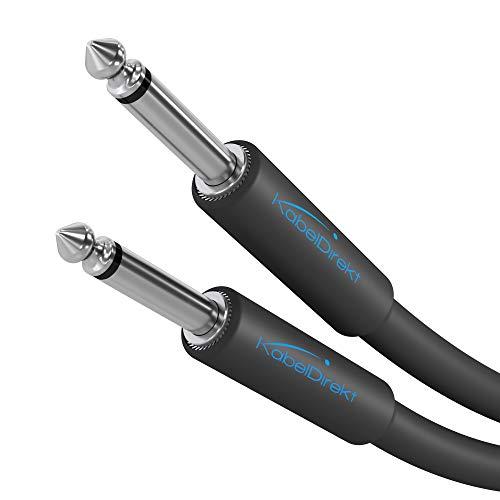 KabelDirekt – 6,3mm Mono Instrumentenkabel/Gitarrenkabel – 3m (Audio Kabel geeignet zum Anschluss von E- Gitarre, Bassgitarre oder Keyboard an einen Verstärker) – PRO Series