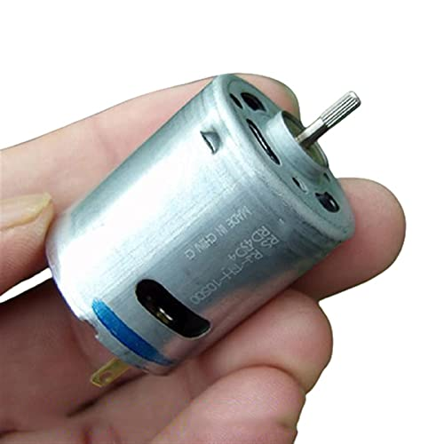Gfpql WYanHua-Eléctrico Micro Motor Redondo de 28 mm, RS-360SH-10500 DC 12V-24V 7000RPM, Motor eléctrico de Cepillo de Carbono para Bricolaje Massager aspiradora Mini Precisión