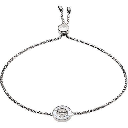 Emporio Armani EG3340040 Damen Armband Sterling-Silber 925 Silber Weiß Perlmutt 25 cm