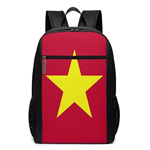 ZYWL Vietnam Flagge Laptop Rucksack 17-Zoll-Reiserucksack Bookbag Bussiness Bag