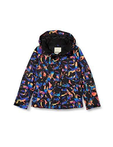 Roxy Jetty - Chaqueta Para Nieve Para Niñas 8-16 Chaqueta Para Nieve, Niñas, true black magic carpet, 12/L