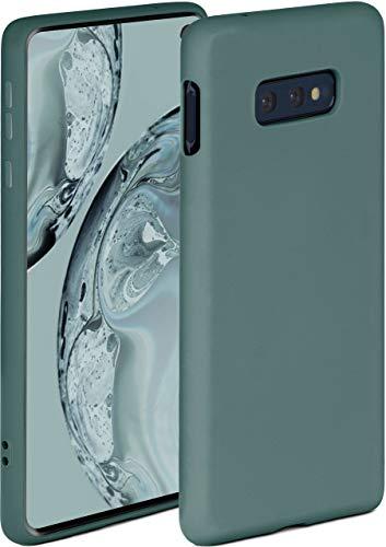 ONEFLOW Soft Hülle kompatibel mit Samsung Galaxy S10e Hülle aus Silikon, erhöhte Kante für Displayschutz, zweilagig, weiche Handyhülle - matt Petrol